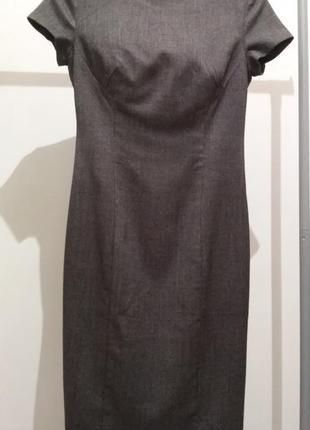 Платье футляр oggi серое  s-m