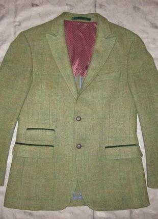 Harris tweed мужской твидовый пиджак m & s блейзер в клетку