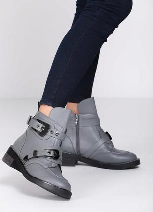 Новые серые демисизонные ботинки размер 36-41