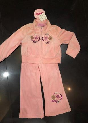 Детский спортивный костюм велюровый barbie