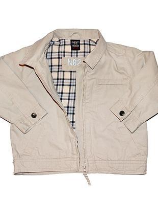 Фирменная джинсовая куртка ecru next c подкладкой на 1-1,5 года в идеальном состоянии
