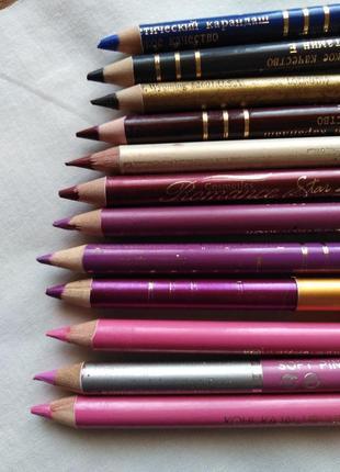Набор карандашей для глаз и губ ( 12 матовых )