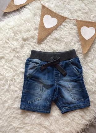Джинсовые шорты на резинке 12-18 месяцев