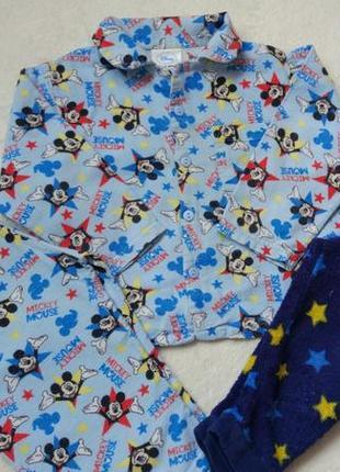 Комплект байковая пижама и флисовые штаны на 12-18 мес