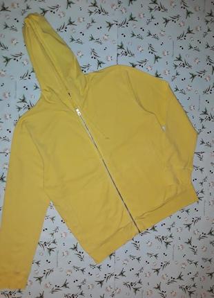 Фирменная желтая толстовка худи french connection, размер 50 - 52