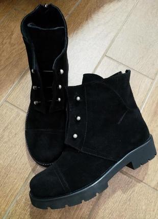Супер-акция!!! распродажа!! замшевые женские ботинки зима