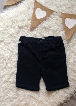 Стильные джинсовые шорты на 12-18 месяцев