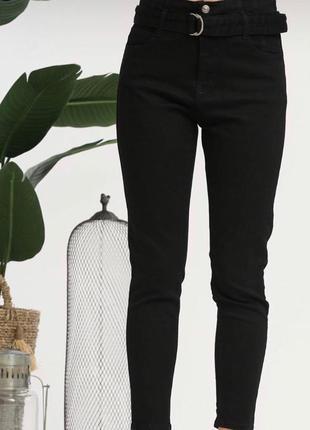 Модные мом джинсы высокая талия с поясом 36р от karol