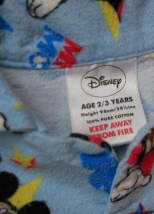 Байковая пижама кофта disney на 2-3 года рост 92-98 см5 фото