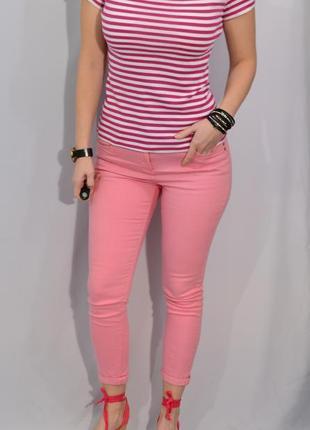 2711\20 футболка из хлопка в темно-розовую полоску m&s l