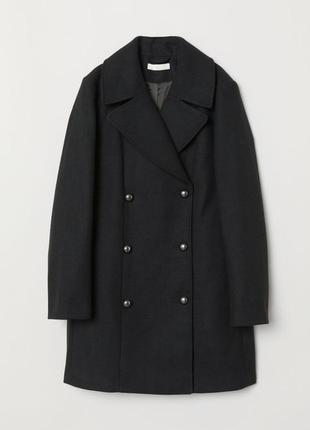 Двубортное пальто из смесовой шерсти, размер 36, 40.