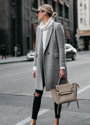 Весенее пальто в мужском стиле от zara