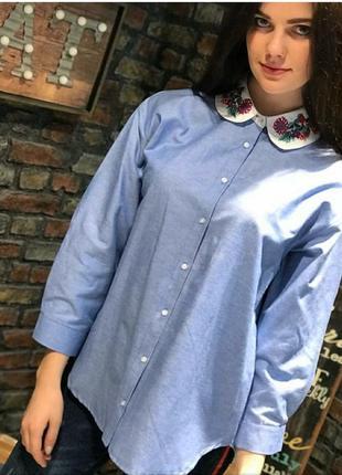 Рубашка с красивым воротником2 фото