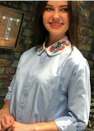 Рубашка с красивым воротником3 фото