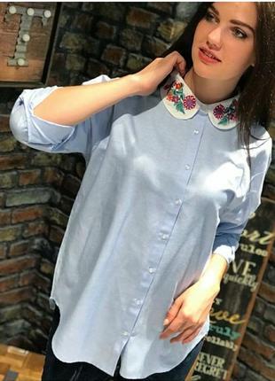 Рубашка с красивым воротником4 фото