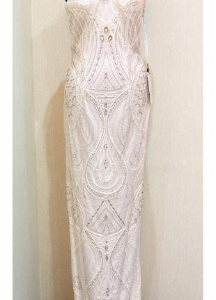 Изысканное вечернее свадебное коктейльное платье sue wong оригинал