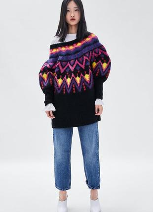 Шикарные джинсы mom fit zara с высокой посадкой, 38р, оригинал, испания