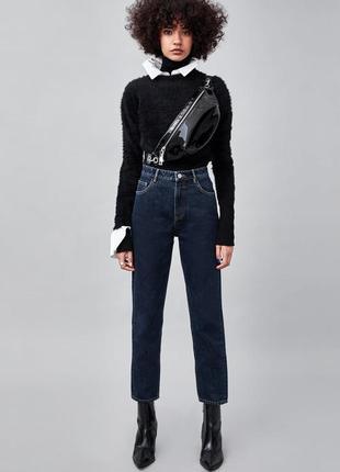Шикарные джинсы mom fit zara с высокой посадкой, 40р, оригинал, испания