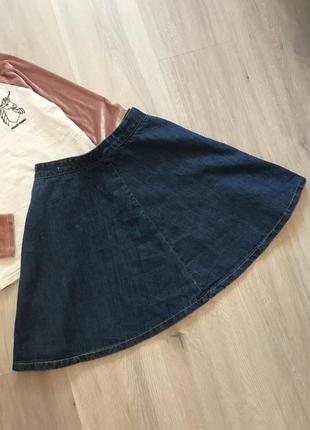 Новая нова джинсова спідничка юбка джинс плотний насичено синього кольру