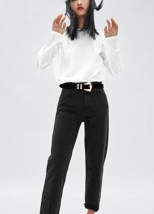 Шикарные джинсы mom fit zara с высокой посадкой 34, 36, 38, 40р испания