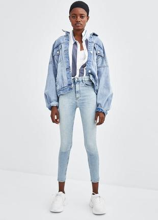 Шикарные джинсы с супервысокой посадкой от zara, 38, 40р, оригинал, испания