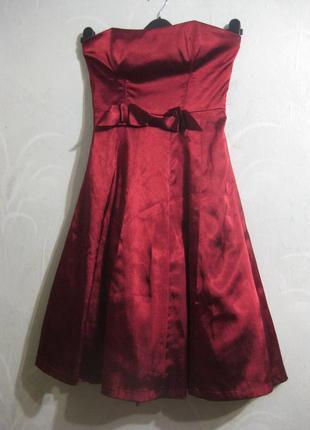 Платье lissa paris бордо бургунди марсала корсет бант миди париж вечернее выпускное