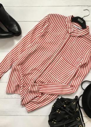 Крутая рубашка в актуальную полоску pull&bear