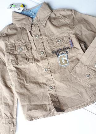 Крутая немецкая рубашка сорочка мальчику 92-98см рост