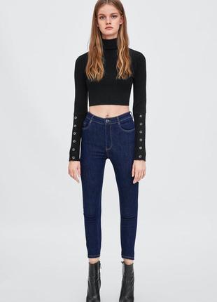Шикарные джинсы с высокой посадкой от zara, 36, 42р, оригинал, испания