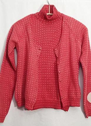 Trussardi, костюм жакет кардиган свитер водолазка безрукавка бадлон шерсть, made in italy