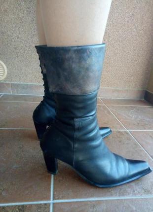Чобітки зимові, черевички на хутрі, утепленні, зима/  натуральна шкіра / обмін чи продадж