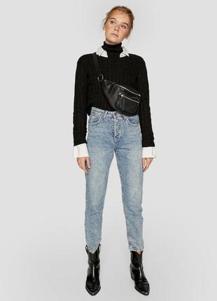 Шикарные джинсы mom fit от stradivarius с высокой посадкой, 38р, испания
