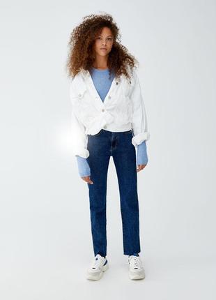 Шикарные джинсы mom fit с высокой посадкой от pull&bear, 36р, испания