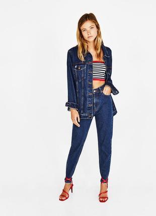Шикарные джинсы mom fit с высокой посадкой от bershka, 36р, испания