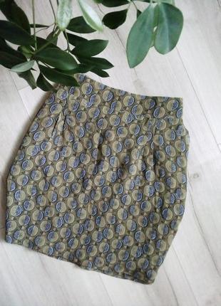 Отличная легкая юбочка стильный принт