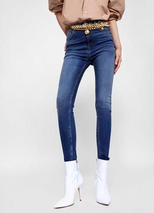 Шикарные джинсы zara woman, высокая посадка, 38р, оригинал, испания
