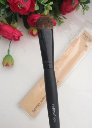 Parisa кисть для макияжа № p09 (для теней, растушевки, широкая средняя)