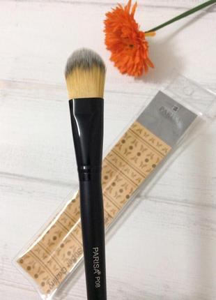 Parisa кисть для макияжа № p08 (для тонального крема, плоская средняя)