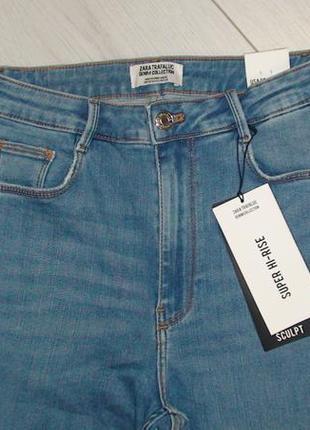 Шикарные джинсы с высокой посадкой от zara, 38р, оригинал, испания8