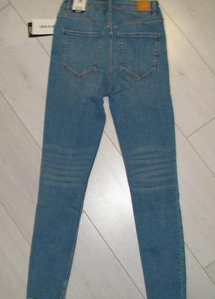 Шикарные джинсы с высокой посадкой от zara, 38р, оригинал, испания10