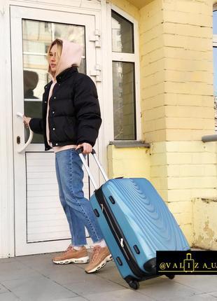 Качество! средний чемодан из поликарбоната валіза середня полікарбонат польша