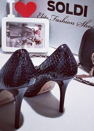 Кожаные туфли лодочки, натуральная кожа, размер 36