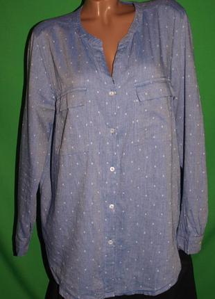 Красивая рубашка (хл-ххл замеры) отлично смотрится
