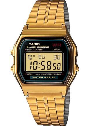 Золотистые часы casio a159 wge eu