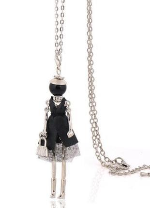Модный крутой кулон кукла на цепочке сумочка подвеска ожерелье куколка девочка