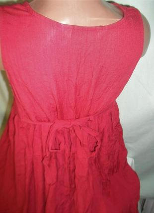 Платье с вышивкой на 8лет2 фото
