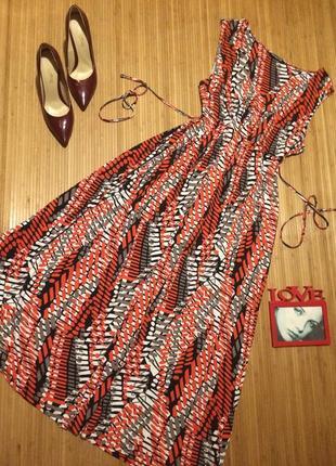 Трикотажное платье в пол из вискозы,размер 5xl