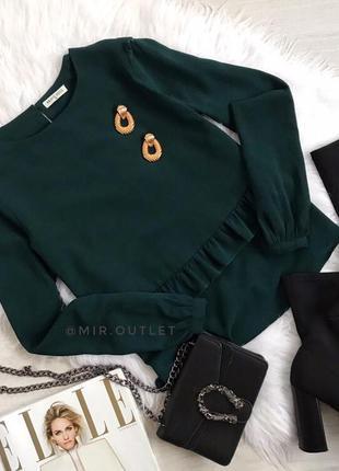 Красивая блуза с рюшами