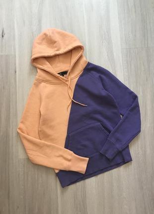 Круте худі худи в два кольори: персиковий і фіолет cubus s