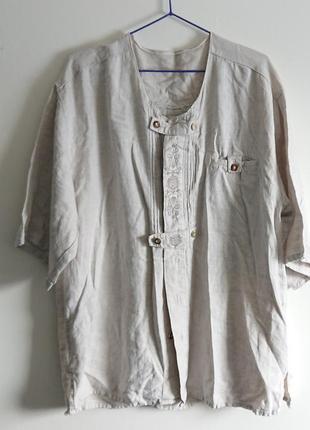 Очень красивая рубашка 100% лён1 фото